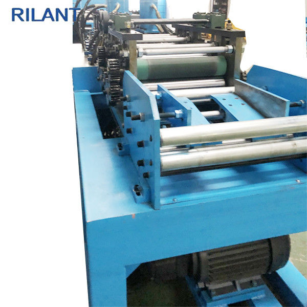 Metal Roof Cold Roll Forming Machine Uncoiler Leveling Notched Cutting Production Line